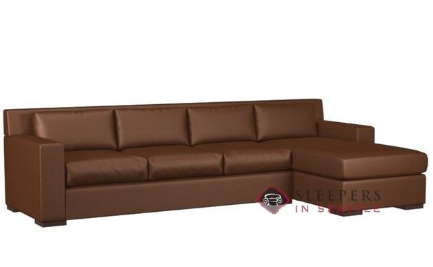 Customize And Personalize Corvo Chaise Sectional Leather