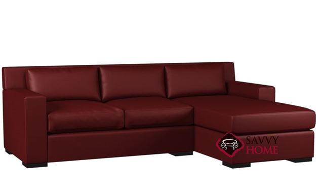 Corvo Compact Leather Chaise Sectional with Loveseat by Lazar Industries