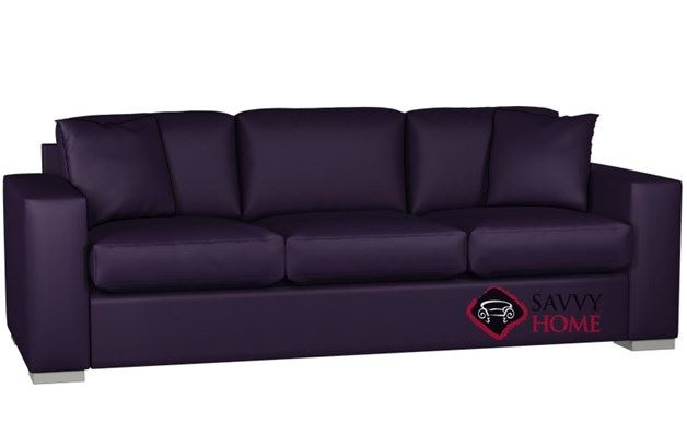 Sutton Place 3-Cushion Leather Queen Sleeper by Lazar Industries