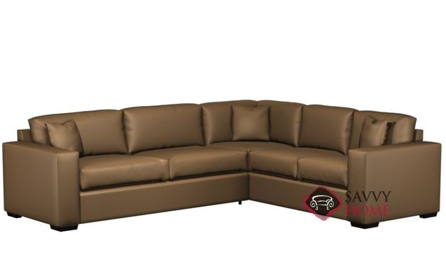 Sutton Place II Leather True Sectional with 2-Cushion Sofa by Lazar Industries