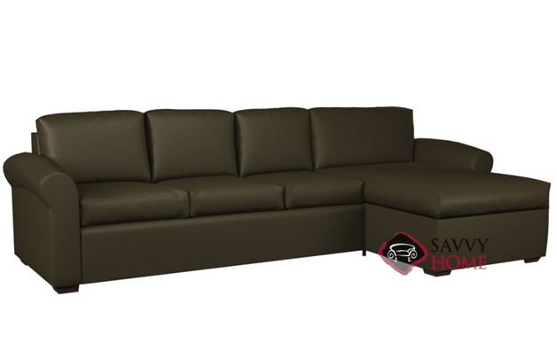 Eclipse Leather Chaise Sectional with 3-Cushion Sofa by Lazar Industries