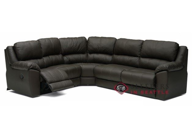Palliser Benson Reclining True Sectional Leather Sleeper