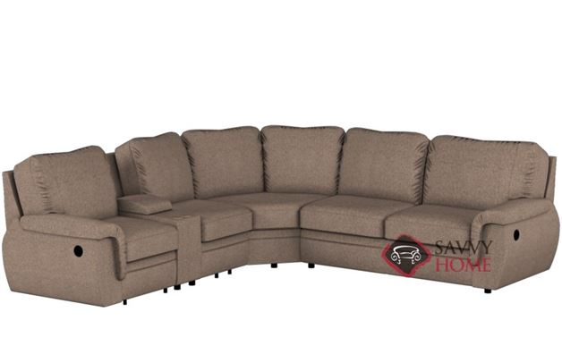 Brunswick Large Reclining True Sectional Sofa with Console by Palliser--Power Upgrade Available