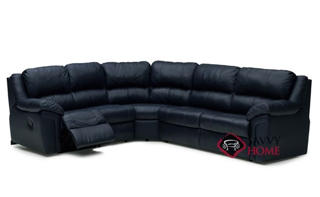 Daley Reclining True Sectional Leather Sleeper Sofa