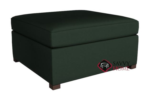 Terra Leather Earth Designs Storage Ottoman by Lazar