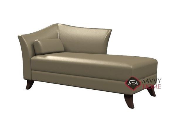 Prague II Leather Chaise Lounge by Lazar Industries