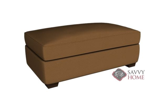 Palo Alto Leather Ottoman by Savvy