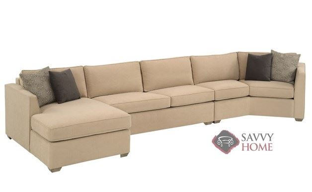 Strata fabric chaise sectional by lazar industries is for Angled chaise sofa