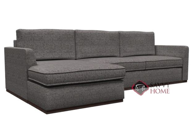 Strata Chaise Sectional with 2-Cushion Condo Sofa Earth Designs by Lazar