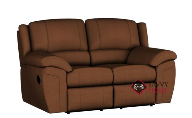 Daley Dual Reclining Leather Loveseat