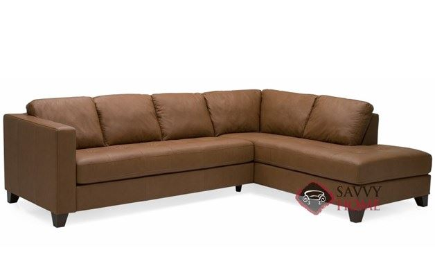 Jura Leather Chaise Sectional Sofa by Lazar Industries