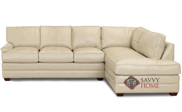 Gold Coast Leather Chaise Sectional Sofa by Savvy