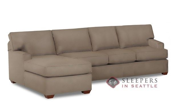Savvy Palo Alto Chaise Sectional Leather Sleeper