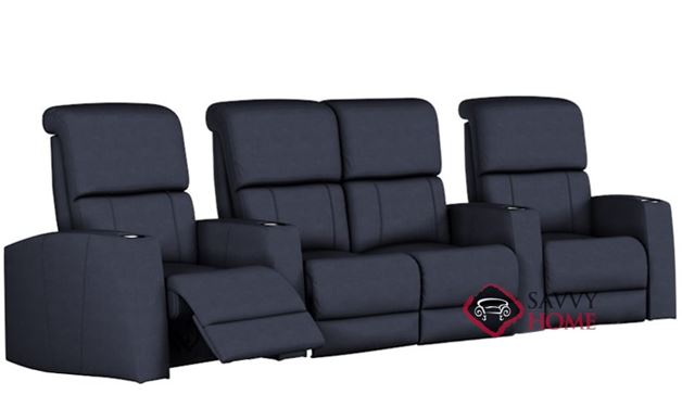 Hifi 4-Seat Reclining Home Theater Seating with Loveseat (Curved)