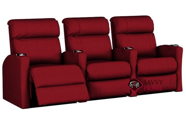 Smallville 3-Seat Reclining Home Theater Seating (Straight)