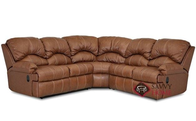 Milan 3-Piece True Sectional Leather Sleeper Sofa