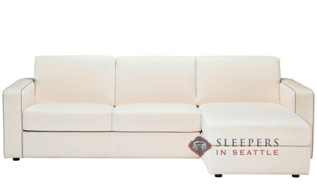 Natuzzi Editions B764 Chaise Sectional Leather Sleeper