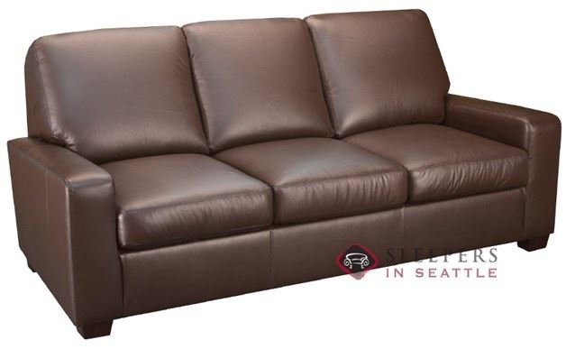 Leather Living Condo Leather Sleeper in Chocolate (Queen)