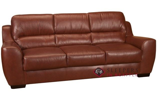 Leather Living Westchester Leather Sofa in Rust
