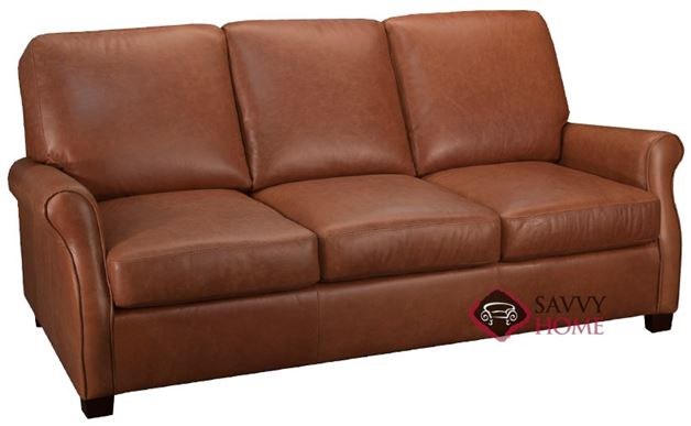 Evening Leather Sofa in Rust