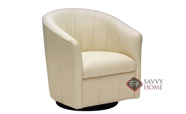 A835 Leather Swivel Chair by Natuzzi Editions