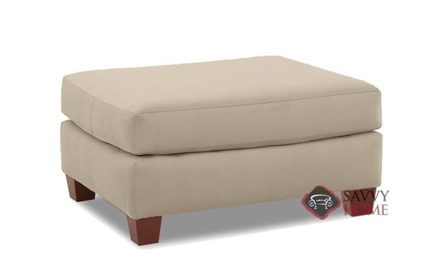 Sienna Ottoman by Savvy in Microsuede Khaki
