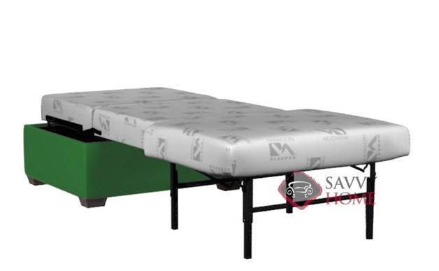 Somerset Paragon Cot Ottoman Leather Sleeper by Lazar Industries