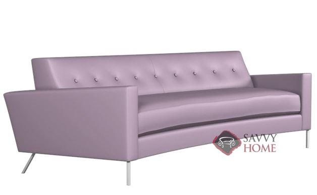 Flamingo Leather Curved Sofa by Lazar Industries