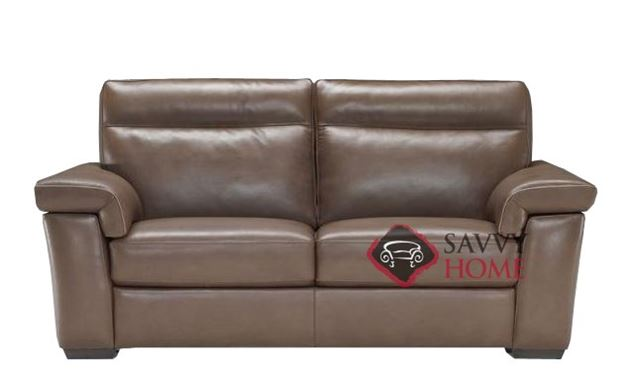 Cervo (B757-009) Leather Studio Sofa by Natuzzi Editions