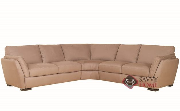 Anapo (A399-016/029/017) Leather True Sectional by Natuzzi Editions