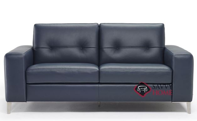 Po (B883-264) Full Leather Sleeper Sofa by Natuzzi Editions with Greenplus