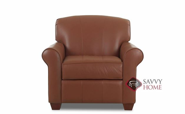 Calgary Leather Arm Chair by Savvy