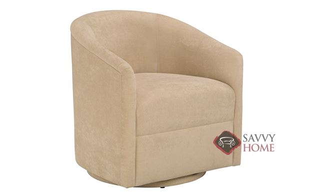 Classic Barrel Fabric Chair By Lazar Industries Is Fully