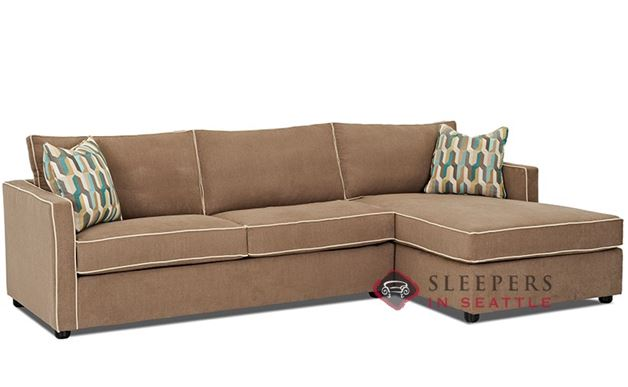 Sectional Fabric Sofa by Savvy | Chaise Sectional Size Sofa Bed