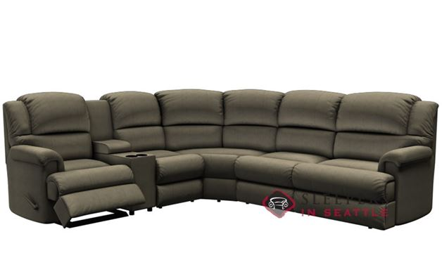 Palliser Harlow Large Reclining True Sectional Sleeper with Console