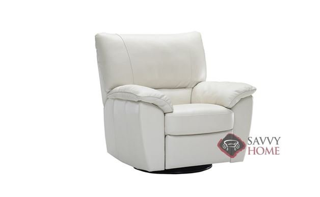 Trento (B632-004) Reclining Leather Chair by Natuzzi Editions in Le Mans White