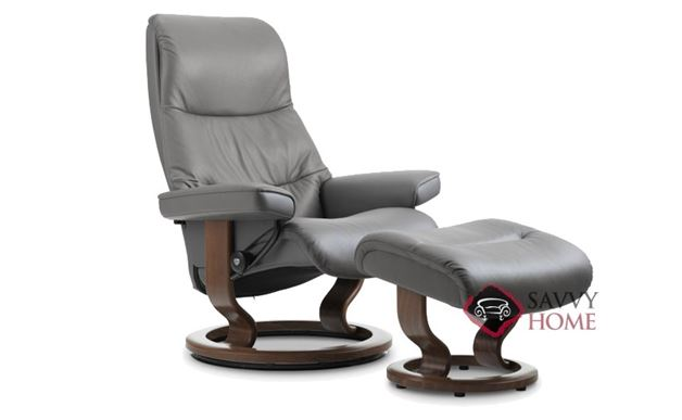 View Large Leather Recliner and Ottoman by Stressless