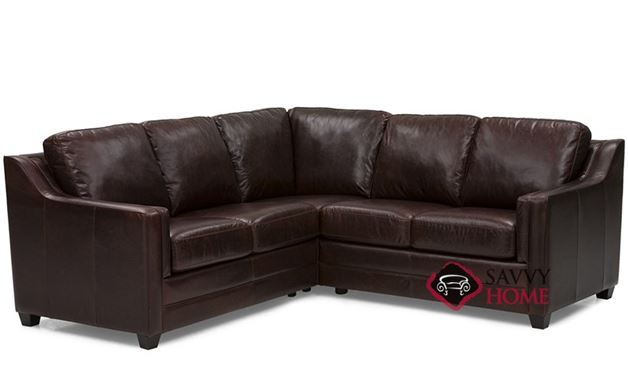 Corissa Leather Compact True Sectional Sofa by Palliser