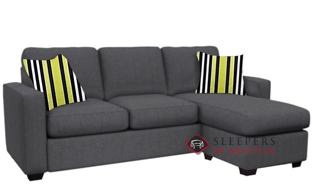 Stanton 702 Chaise Sectional Sleeper Sofa in Legacy Eclipse (Queen)