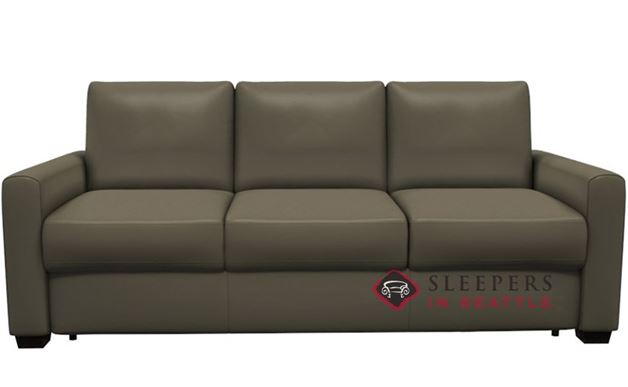 Customize And Personalize Roommate Queen Leather Sofa By
