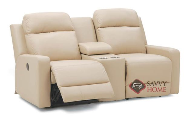 Forest Hill Dual Reclining Leather Loveseat with Condole by Palliser--Power Upgrade Available