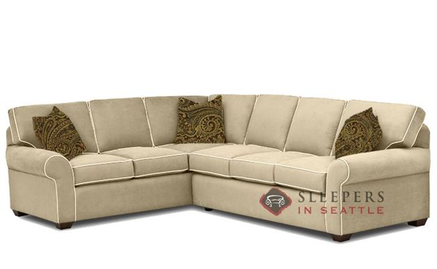 Seattle True Sectional Sleeper Sofa by Savvy in Luna Dune