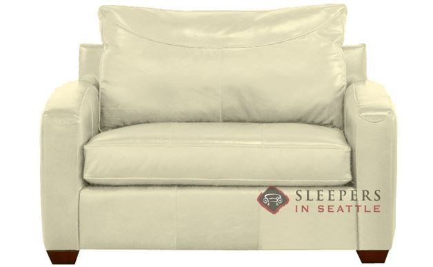 Savvy Boulder Leather Sleeper in Durango Oatmeal (Chair)