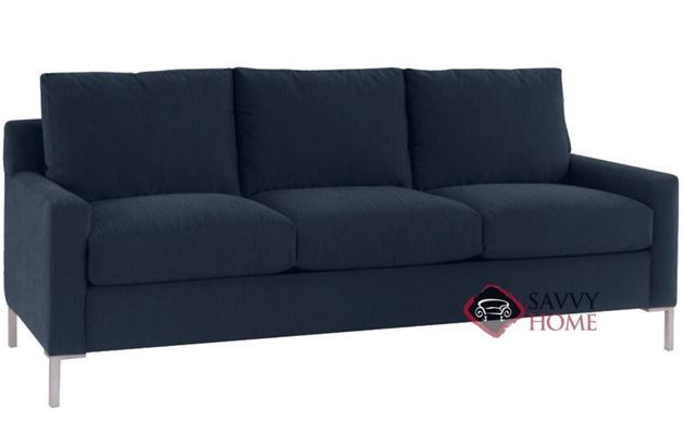 Soho 3-Cushion Queen Sofa Bed in Inga Navy