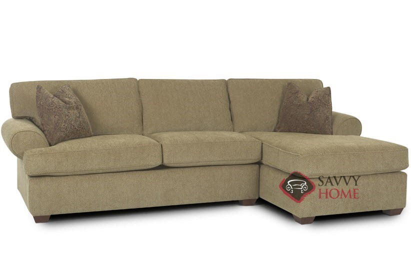 Tacoma fabric chaise sectional by savvy is fully Sleeper sofa sectional