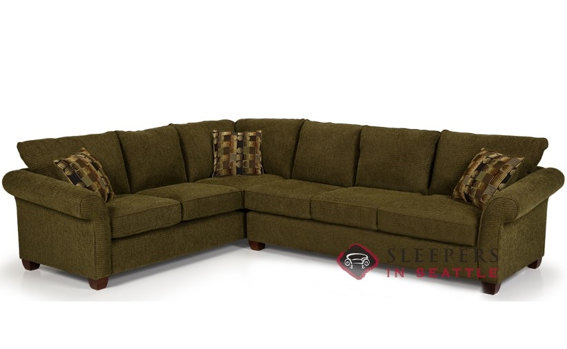 The 664 True Sectional Queen Sleeper in Longbranch Verde