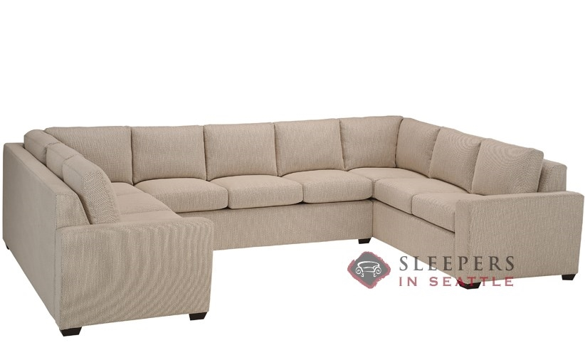 Customize and personalize geo true sectional fabric sofa for U shaped sectional with sleeper sofa