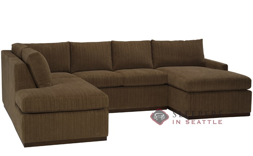 Customize and personalize terra true sectional fabric sofa for U shaped sectional with sleeper sofa