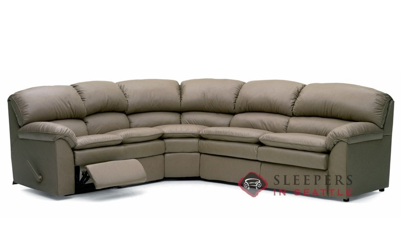 Palliser Pembina Reclining True Sectional Leather Sleeper