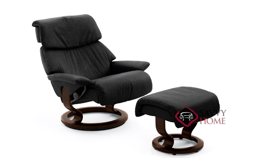 dream leather chair by stressless is fully customizable by. Black Bedroom Furniture Sets. Home Design Ideas